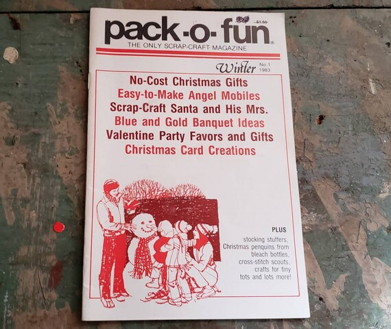 Vintage Pack-O-Fun Magazine Winter 1983 Angel Mobiles Christmas Crads Banquet Ideas Valentine's Party Favors