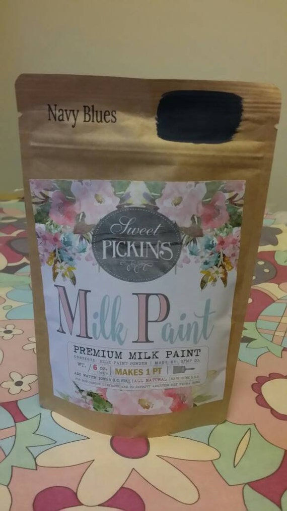 Sweet Pickins Milk Paint Color - Navy Blues 6 oz. Makes 1 Pint