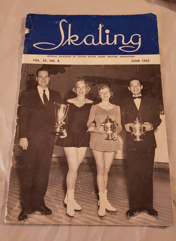 Official Magazine of the United States Figure Skating Association June  1955