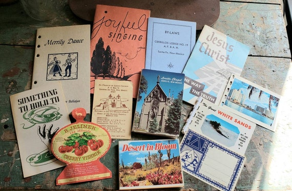 Vintage Ephemera Paper with a Church and Social Organization theme Souvenirs White Sands Masons Passover Tomes Tags Junk Journals