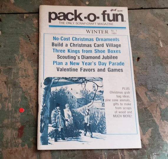 Vintage Pack-O-Fun Magazine Winter 1984 Christmas Ornaments Christmas Village New Year's Day Parade Valentine's Party
