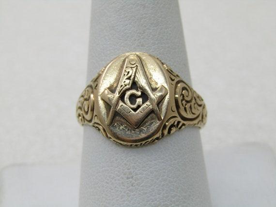 Victorian 10kt-12kt Masonic Ring, Sz. 9.5, 7.24gr