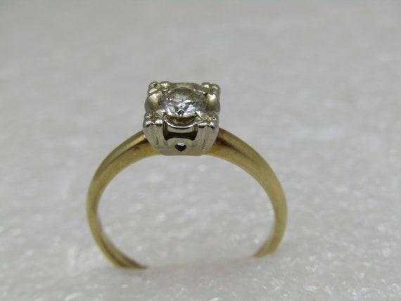 Vintage 14kt .35 CTW Diamond Engagement Ring, Illusion, Sz. 6.75