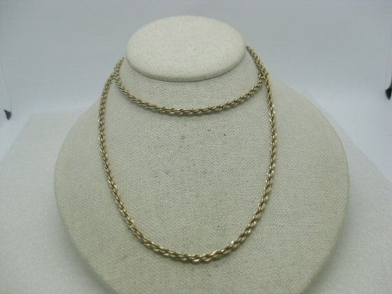 "Vintage 12kt G.F. Chain Necklace, 1930's-1940's, 28"", 4mm, 31.50 gr."