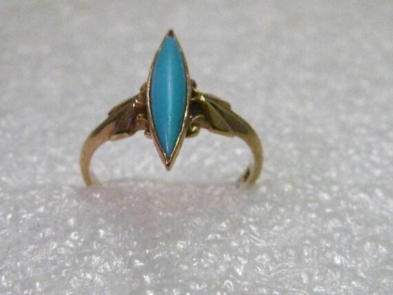 Vintage 10kt gold True Art Deco Ring, size 3, 1.43 grams, signed