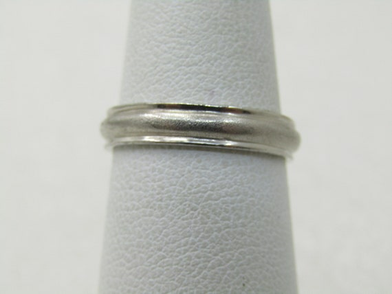 Vintage Sterling Silver Wedding Band, 3.5mm Sz. 6