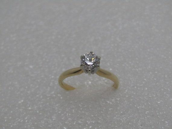 Vintage 14kt Diamond Engagement Ring, 1/2 ctw, size 5.25, Zales, 2.12 gr.