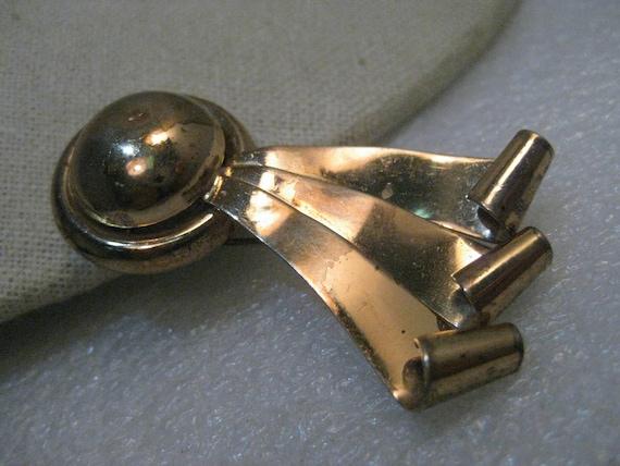 Vintage Sterling Napier Fur Clip, 1940's, Modern/Comet Design, 14.11 gr.