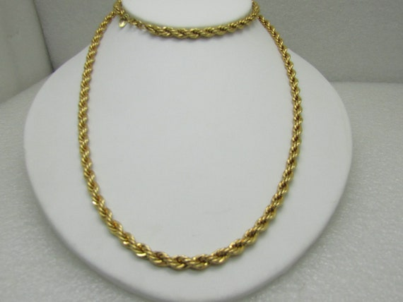 Vintage Monet 4.5mm Rope Chain Necklace, 30""