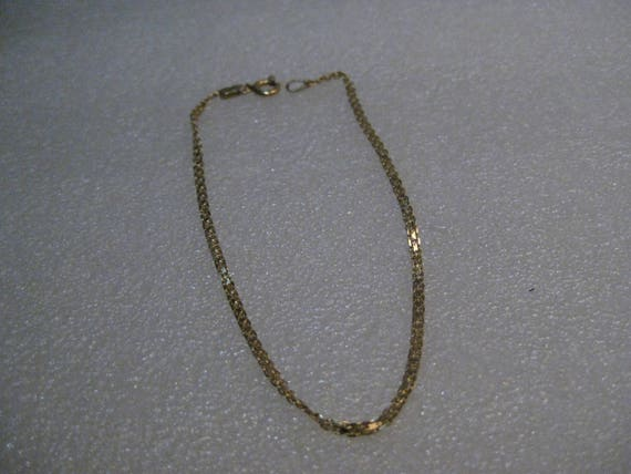 "14kt Double Link Bracelet, Mesh, 1.28 grams, 2mm, 7"""