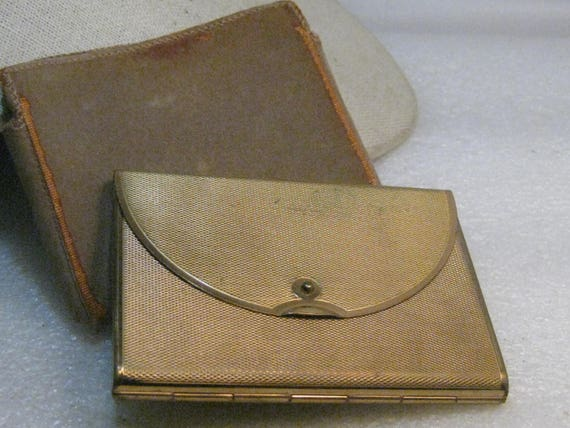 Vintage Coty Hinged Envelope Compact in Case, 1950's