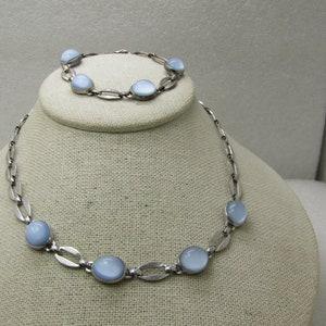 Vintage Jaycraft Necklace /& Bracelet Set 14.57 Silver Tone 1940/'s