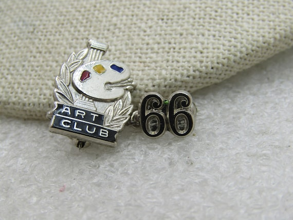 Vintage Sterling Silver Art Club '66 Pin, signed Balo