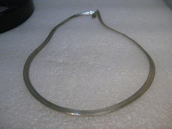 """Sterling Reversible Nugget Herringbone Necklace, 5.5mm wide, 20"""", 21.49 gr."""