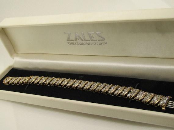 "Vintage Jafa 14kt Diamond Tennis Bracelet, 7.25"", Appx. 4TCW, 1/2"" Wide"