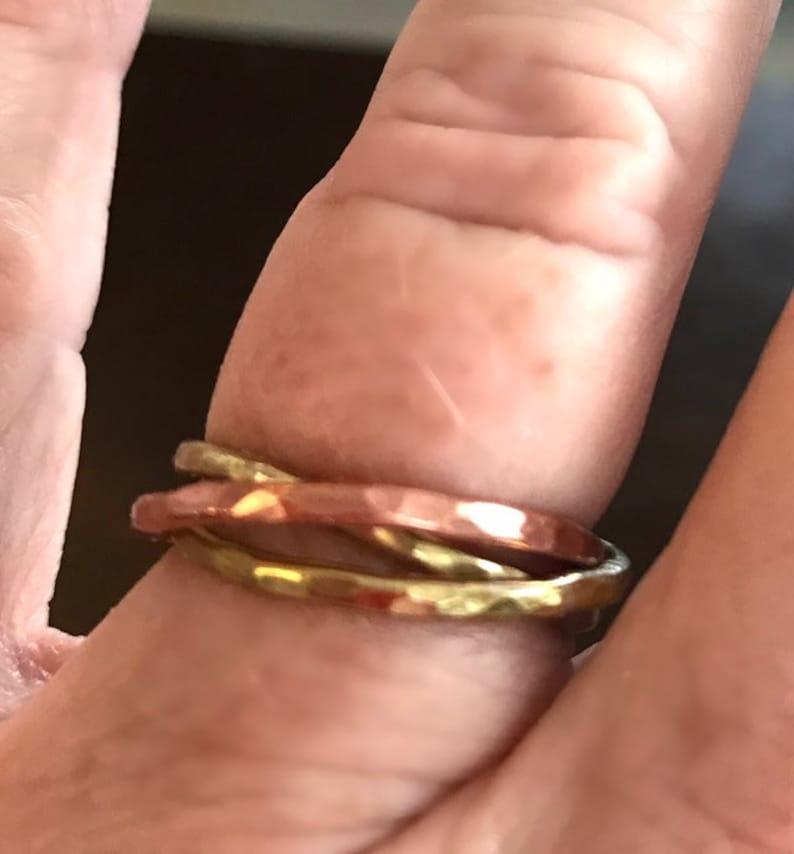 Trinity Ring 1 Copper /& 2 Brass