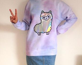 Galaxy tie dye alpaca jumper - Kawaii Pastel