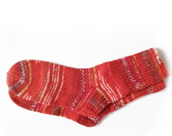 fb24a5600e918 Red socks for women, knit socks, wool socks women, hand knit socks