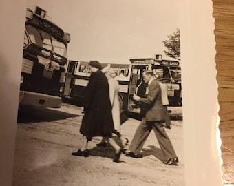Bus Trip - Black & White Photo - 1940's