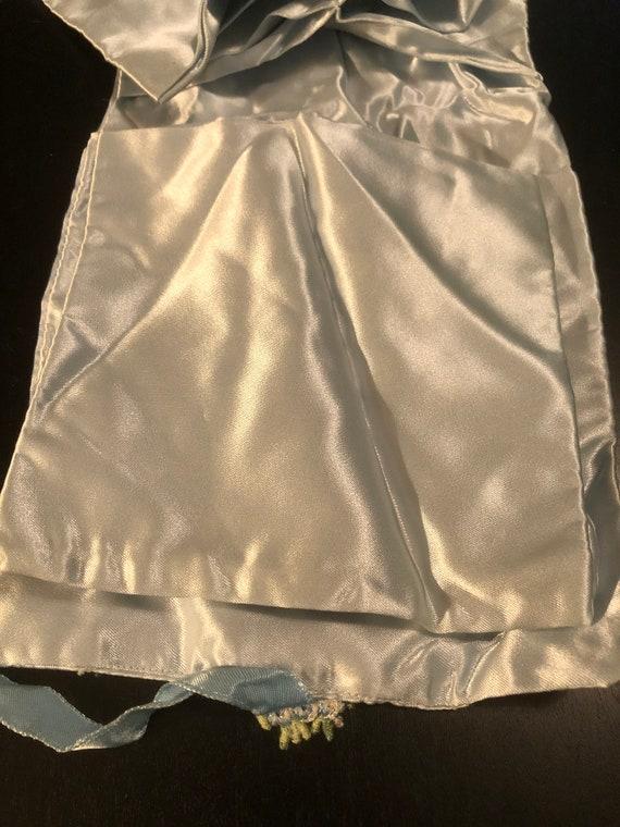 Antique Satin Ladies Underwear Travel Bag - image 4