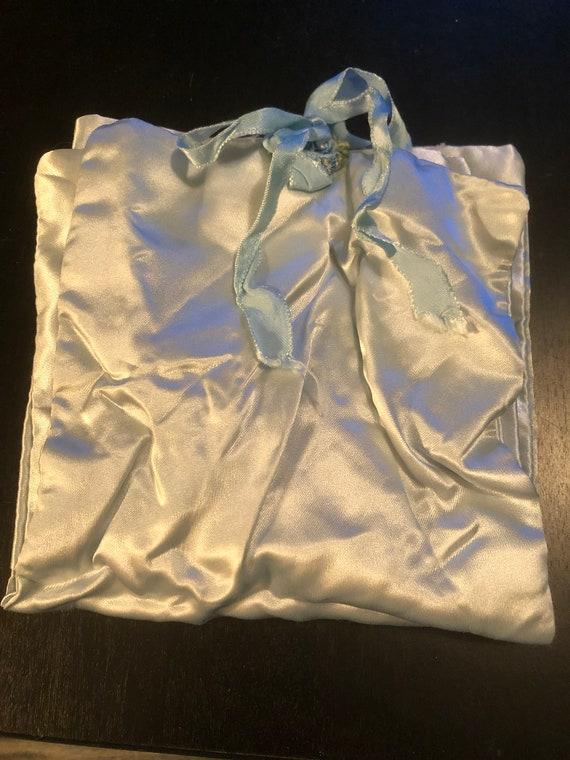 Antique Satin Ladies Underwear Travel Bag - image 2