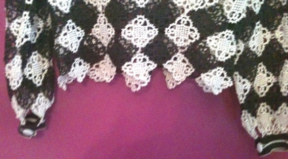 Antique Hand Crocheted Formal Blouse - image 4