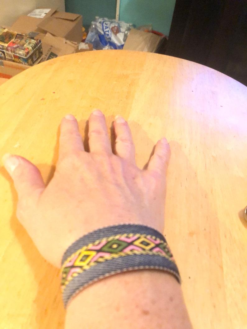 Denim Slap Bracelet