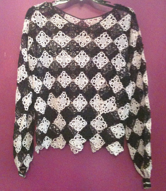 Antique Hand Crocheted Formal Blouse - image 2