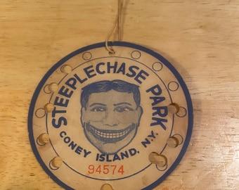 Steeplechase Park Ride Ticket
