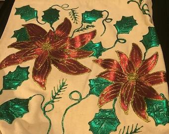 Handpainted Christmas Tote Bag