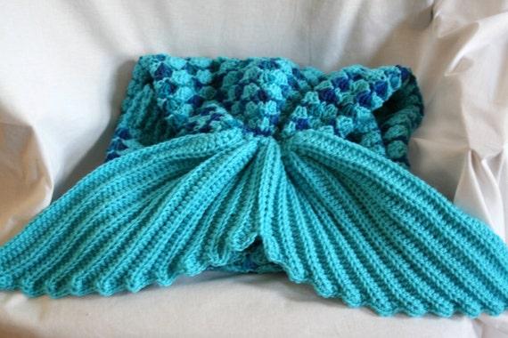 Meerjungfrau Decke Häkeln Etsy