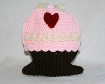 Large Crocheted Cupcake Bag