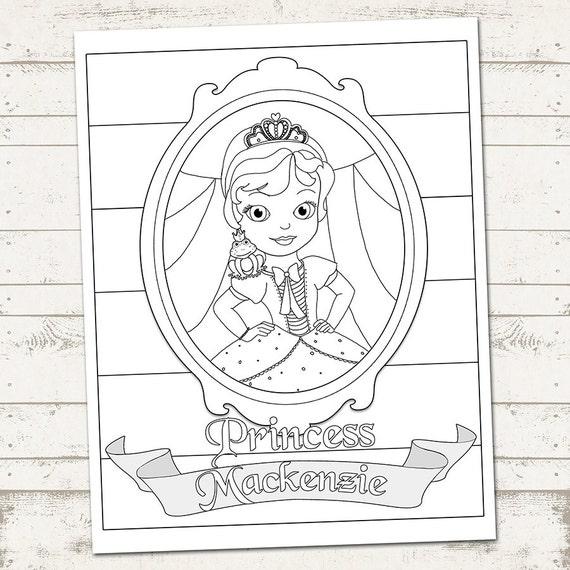 Página para colorear de princesa fiesta feliz cumpleaños | Etsy