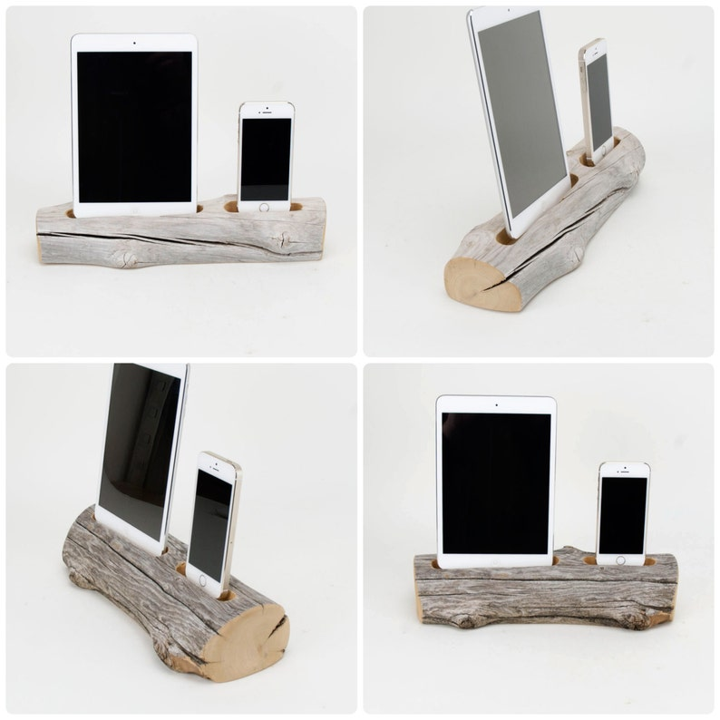 Driftwood Dock for a iPad Mini and iPhone image 0