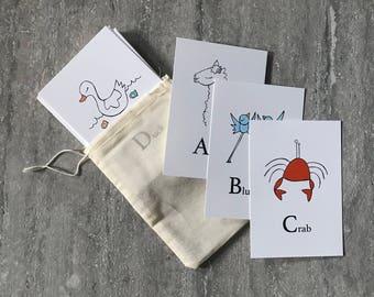 ABC Animal Flashcards - Elle Karel Illustration