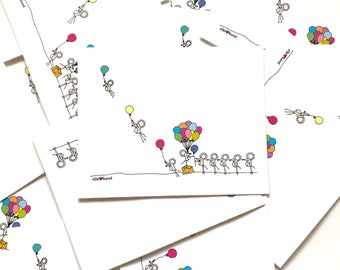 Standing in Line - Whimsical Mice Vinyl Stickers