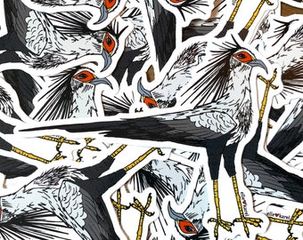 Secretary Bird Vinyl Stickers