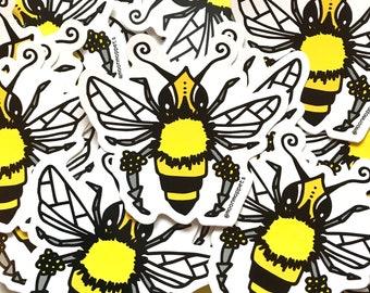 Honey Bee Vinyl Stickers
