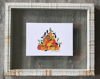 Oranges - Elle Karel Illustration