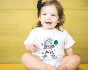 Astronaut Romper - Moon Moppets Kids Apparel Collection by Elle Karel
