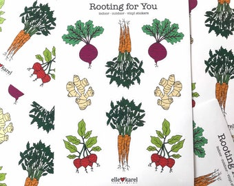 Root Veggie Vinyl Stickers