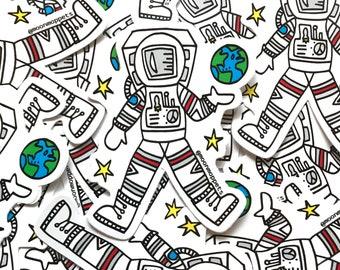 Astronaut Vinyl Stickers