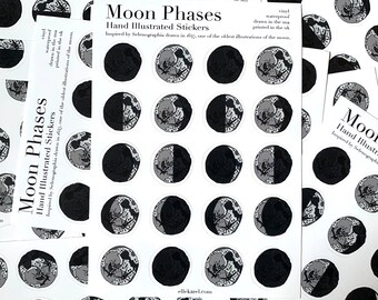 Selenographia Moon Phase Vinyl Stickers
