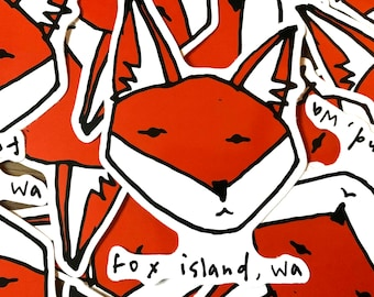 Fox Island Vinyl Stickers