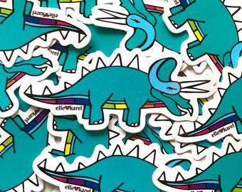 Triceratops Dinosaur Vinyl Stickers