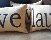 Items Similar To Live Love Laugh Burlap Pillows On Etsy