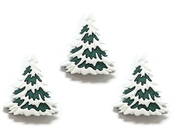 Quilting Card Making Christmas Pine Tree Novelty Buttons Sewing Crafting