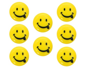 eb2de0074a Smiley Face Yellow 9 16 inch (15 mm) Dill Novelty Buttons