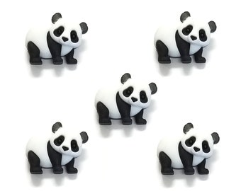 Dress It Up Buttons 5pcs Panda Pile