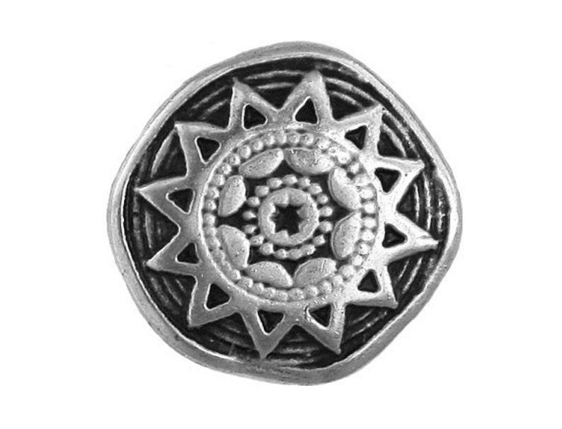 Metal Buttons 25 pcs Sun Star Metal Button Antique Silver Color 34 inch 20 mm